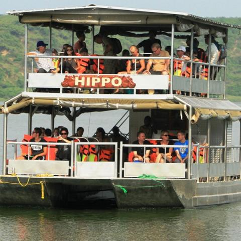 Game Drive and Boat Cruise in Queen Elizabeth National Park